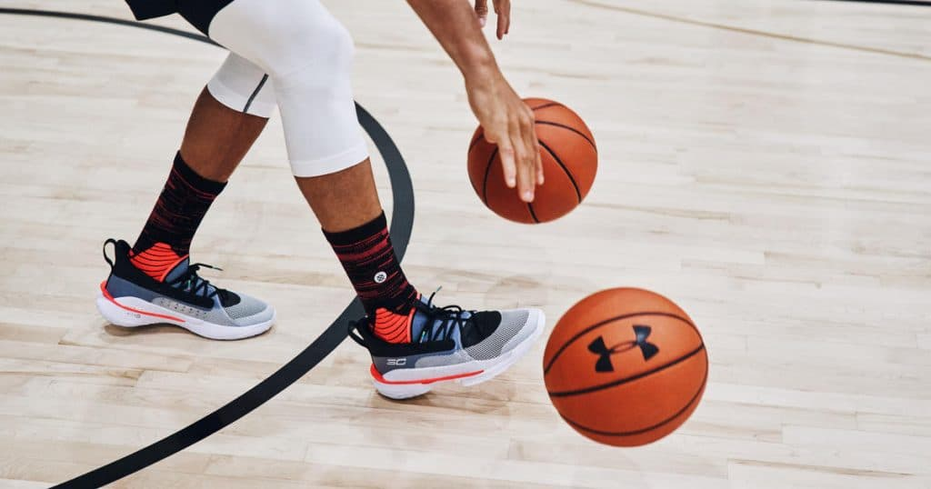 under armour curry 7 - dribbling 3