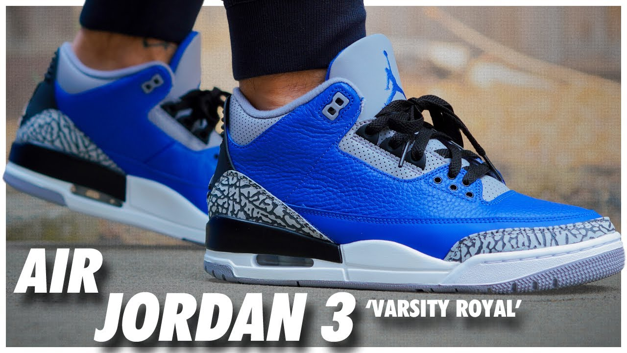 Air Jordan 3 Varsity Royal Cement
