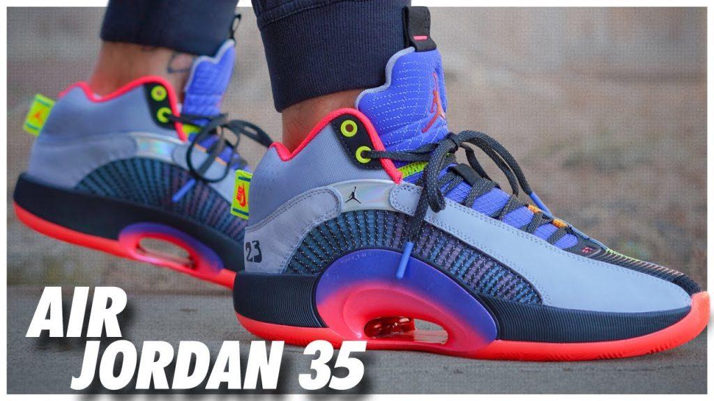 Air Jordan 35 Center of Gravity On Foot