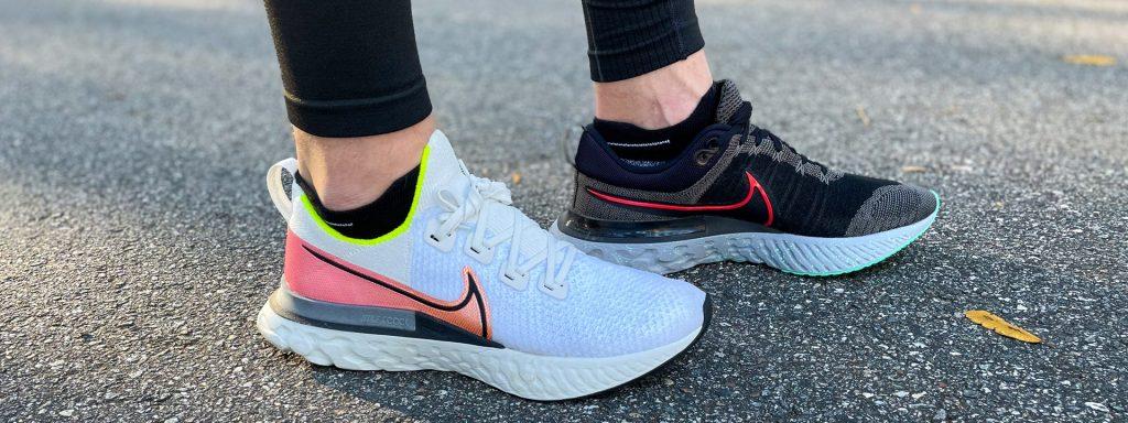 Nike Infinity Run vs Infinity Run 2 Sideview 1