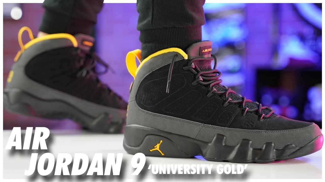 Air Jordan 9 University Gold