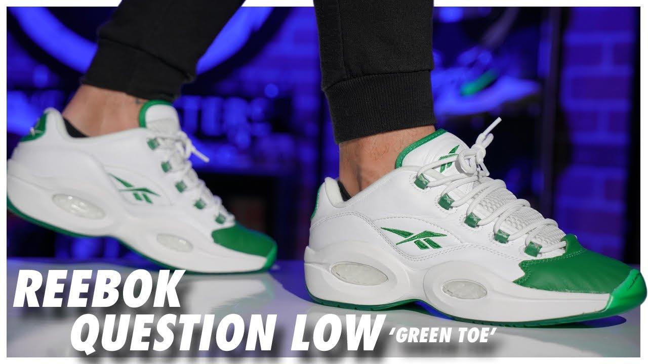 Reebok Question Low Green Toe