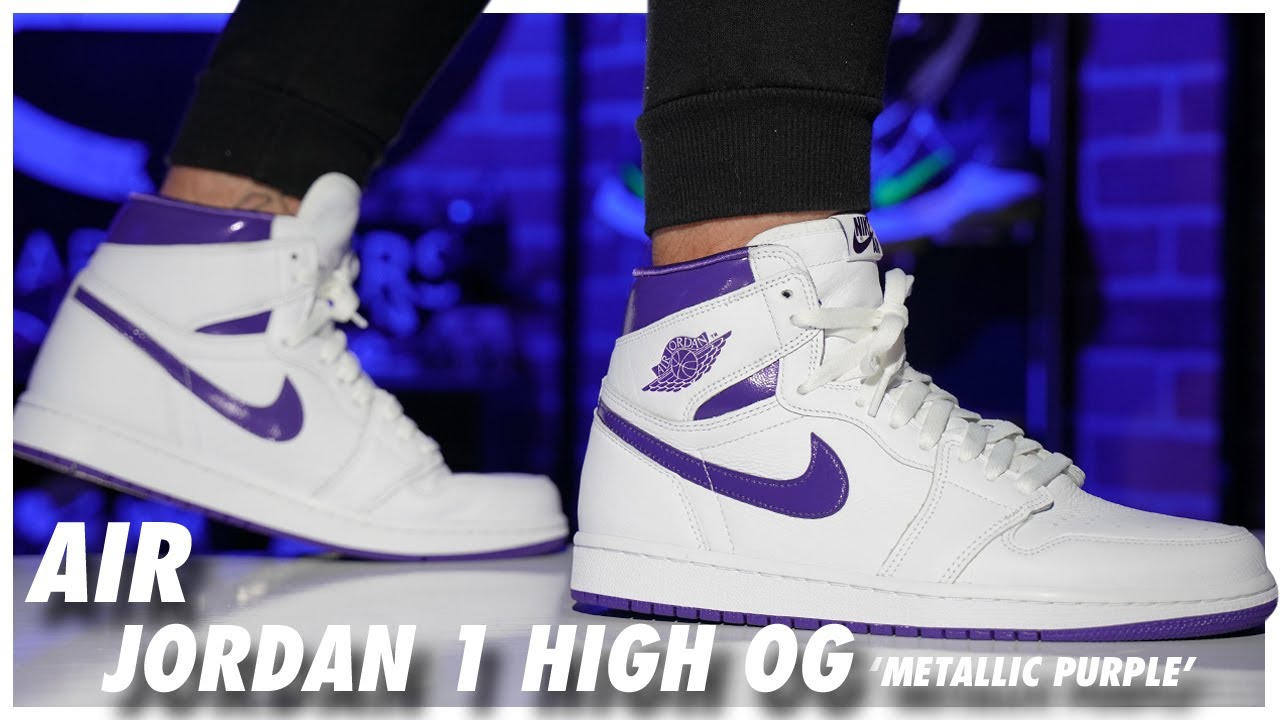 Air Jordan 1 High Metallic Purple 2021