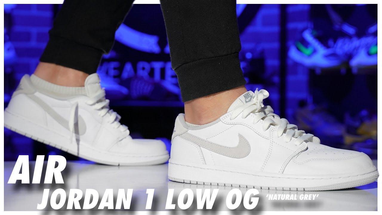 Air Jordan 1 Low OG Natural Grey